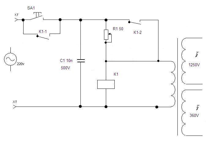Схемы плавного пуска трансформатора